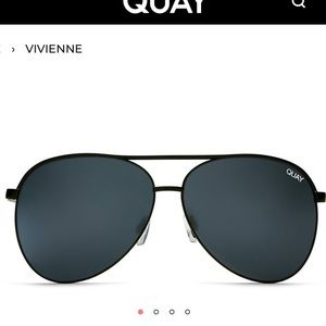 Quay VIVIENNE Black Sunglasses